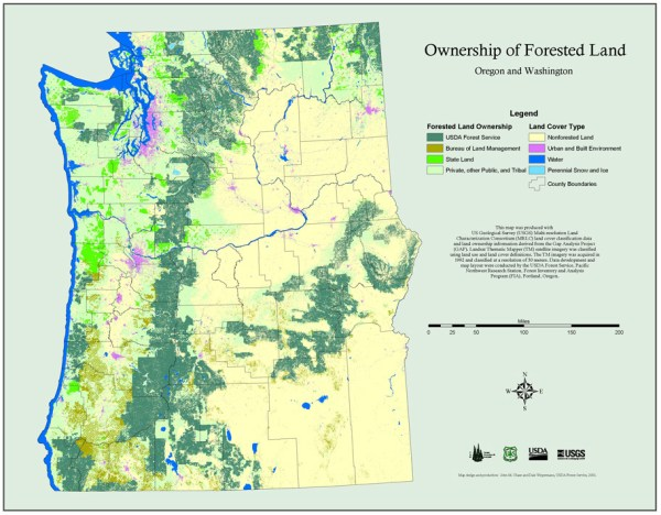 Maps PNW Research Station USDA Forest Service