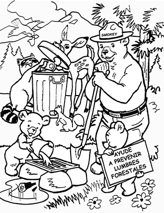 smokey the bear coloring pages # 5