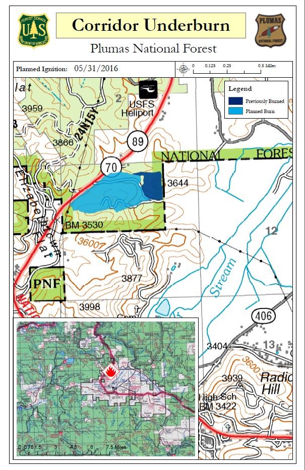 Map of Corridor Underburn