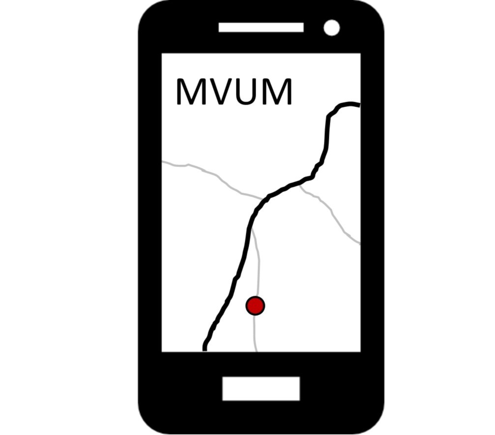 A Smartphone Showing A Map.