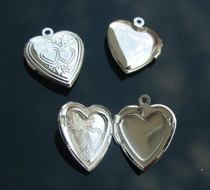 silver heart locket 14mm