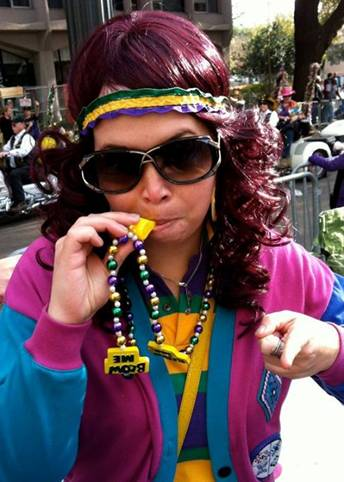 Mardi Gras in New Orleans.