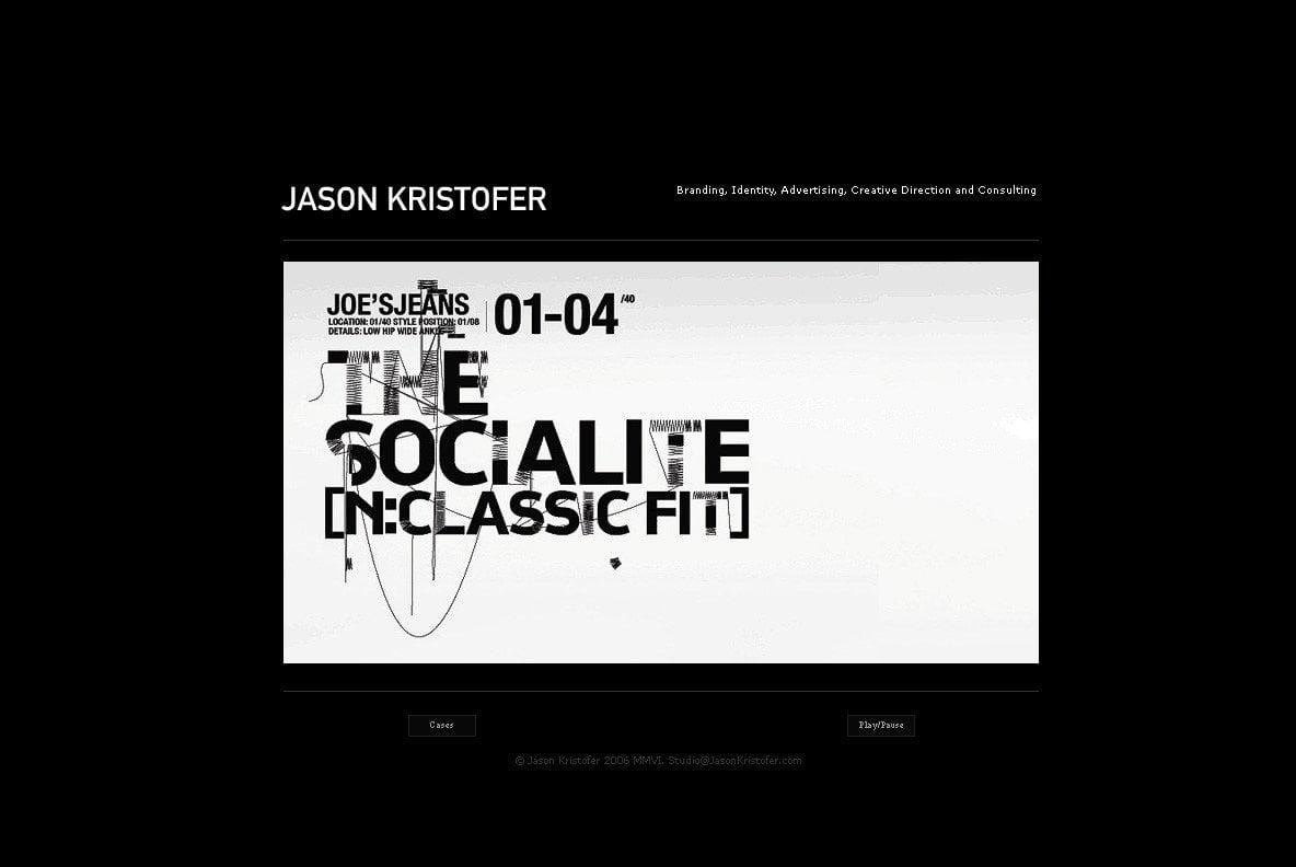 Joe's Jeans by Jason Kristopher set in CP Company font