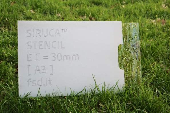 Siruca Stencil plexiglass slide