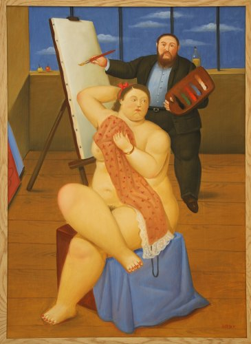 Botero-painting-was-exhibited-by-Tasende-Gallery