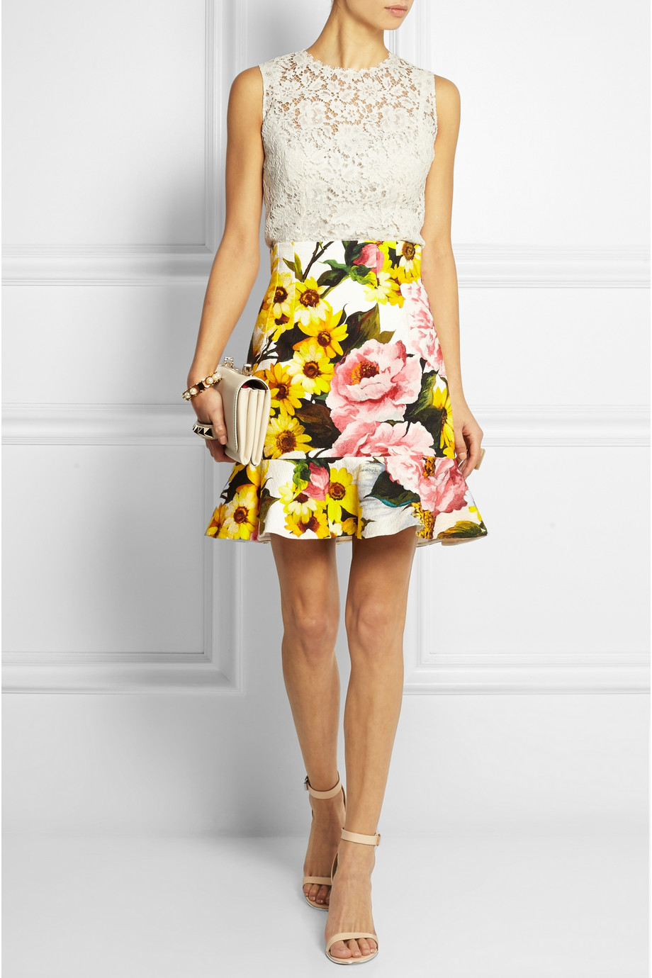 9060d47ca Dolce & Gabbana's floral-print skirt is flattering no matter what your  figure – it sits high on the waist and flares out at the hem.