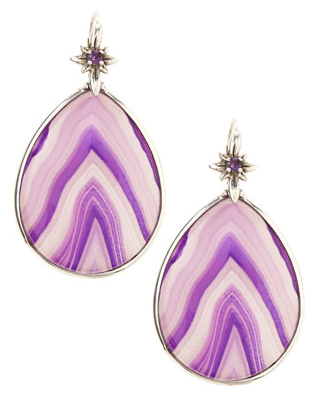 Stephen Dweck Purple Agate Teardrop Earrings-BergdorfGoodman