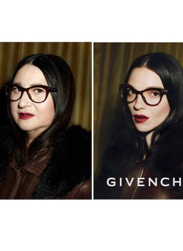 Nathalie Croquet spoofs a Givenchy ad with Mariacarla Boscono