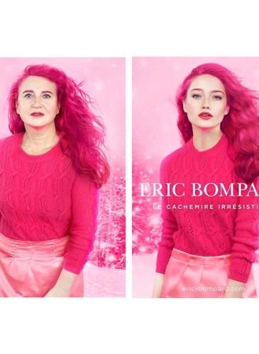 Nathalie Croquet spoofs an Eric Bompard ad