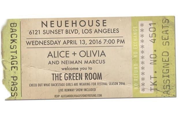 alice + olivia LA Runway Show