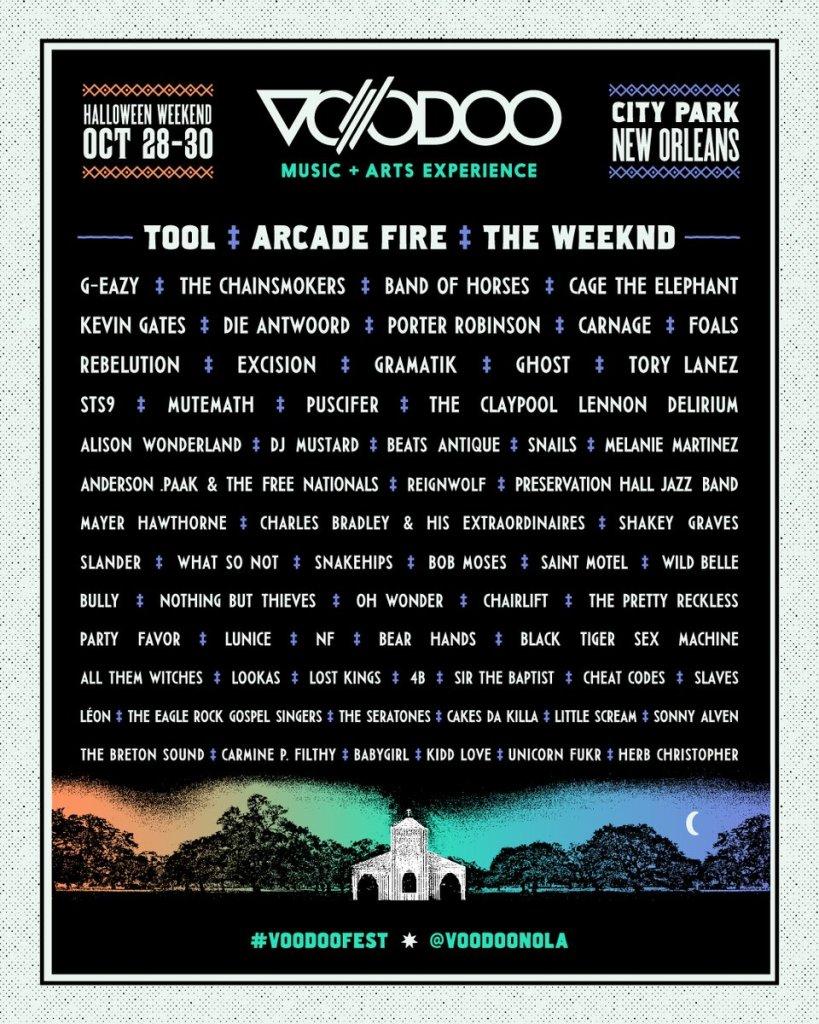 Tool, The Weeknd & Arcade Fire Set To Headline Voodoo 2016!