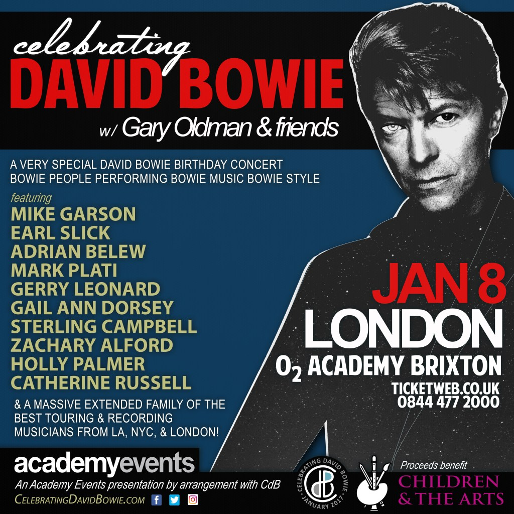 Celebrating David Bowie Exclusive Worldwide Benefit Shows