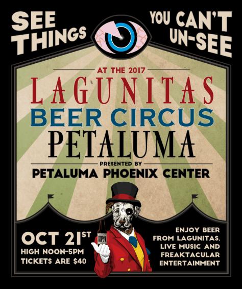 The Lagunitas Beer Circus: PETALUMA Poster