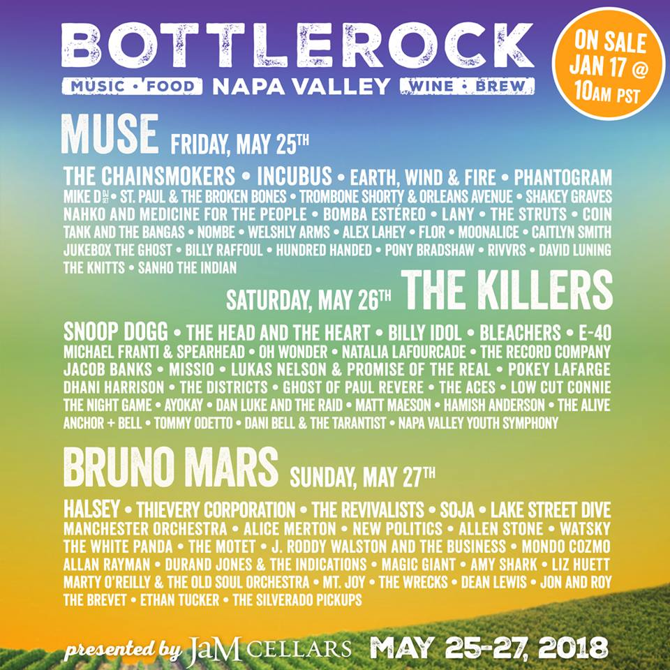 BottleRock Announces Single Day Tickets