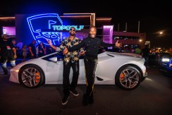 DJ Irie and Jamie Foxx arrive to the Concert On The Green during the Monster Electronics 14th Annual Irie Weekend powered by South Florida Ford