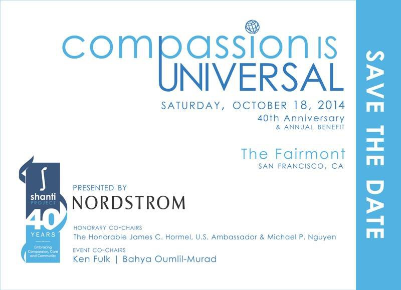 Shanti Celebrates 40 Years Serving The Community With Annual Compassion Is Universal Benefit On October 18th, 2014