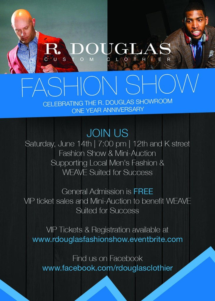 R. Douglas Fashion Show:  Celebrating Men's Fashion and Supporting WEAVE's Suited for Success