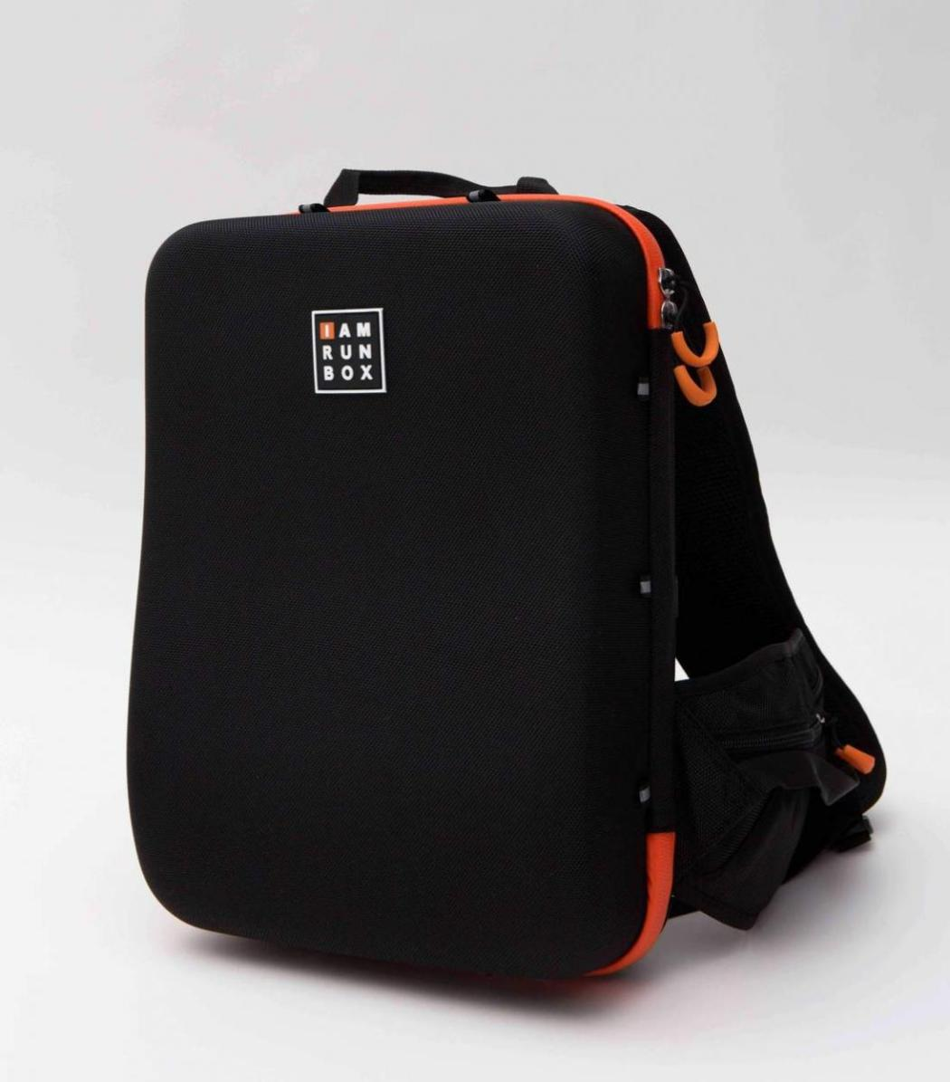 iamrunbox-backpack-pro-orange-front-rucksack
