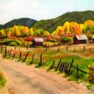 Farm land scene