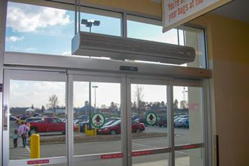 electric heated air curtains