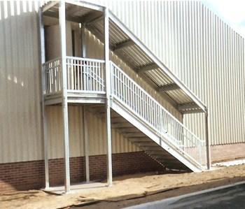 Ibc Prefab Steel Stairways | Square Rug For Stair Landing | Area Rugs | Stair Treads | Handrail | Flooring | Mat
