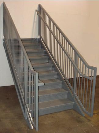 Ibc Prefab Steel Stairways | Used Steel Stairs For Sale | Hinged | Portable | U Shaped | Garage | 8 Foot