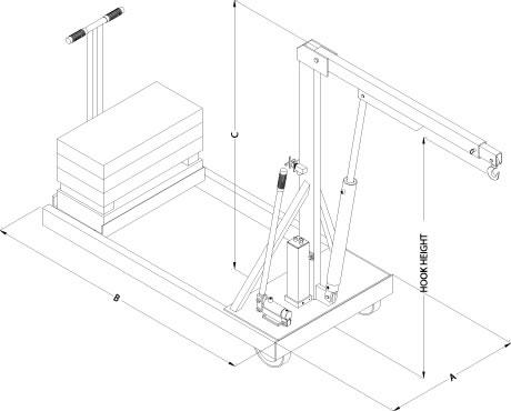 Floor Crane, Floor Cranes, Hydraulic Floor Crane
