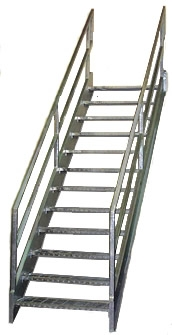 Galvanized Stairs Metal Stairs Osha Prefab Stairways   Metal Staircase For Sale   Prefab   Outdoor   Contemporary   Tangga   Steel Structure