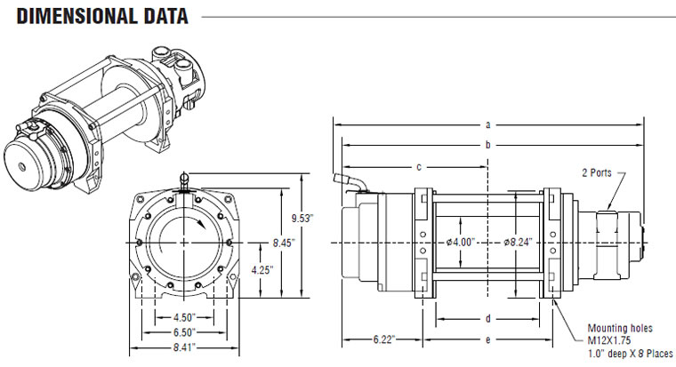 WG Series Pneumatic Winches, Powered Winches, Power Winch