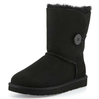 Black Suede Flat Winter Boots image 1