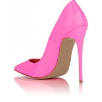Women's Hot Pink Dress Shoes Elegant Pointed Toe Pumps for ...
