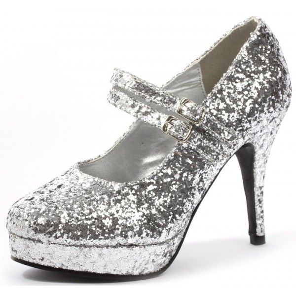 women s silver stiletto