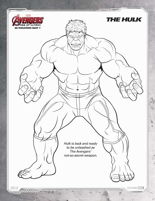 Avengers: Age of Ultron Coloring Sheets #Avengers #AgeOfUltron