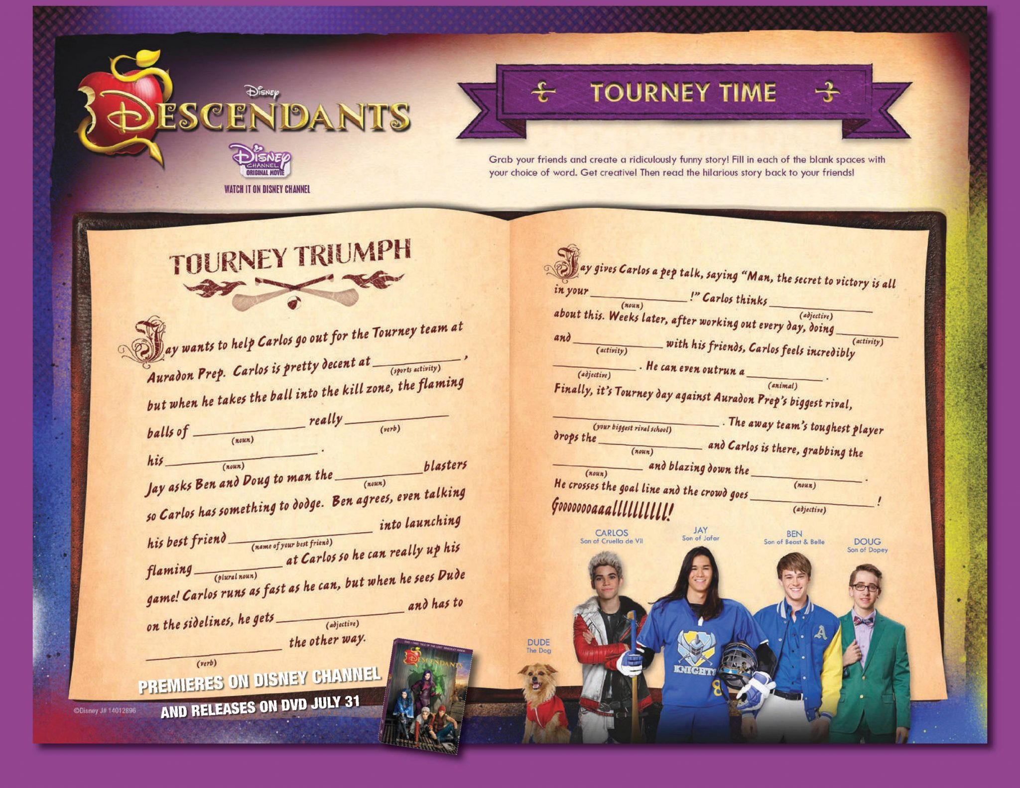 Disney Descendants Bookmarks Family Tree Activity And Create A Magical Story