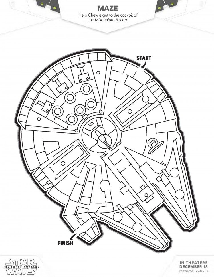 Star Wars: The Force Awakens Coloring and Activity Sheets