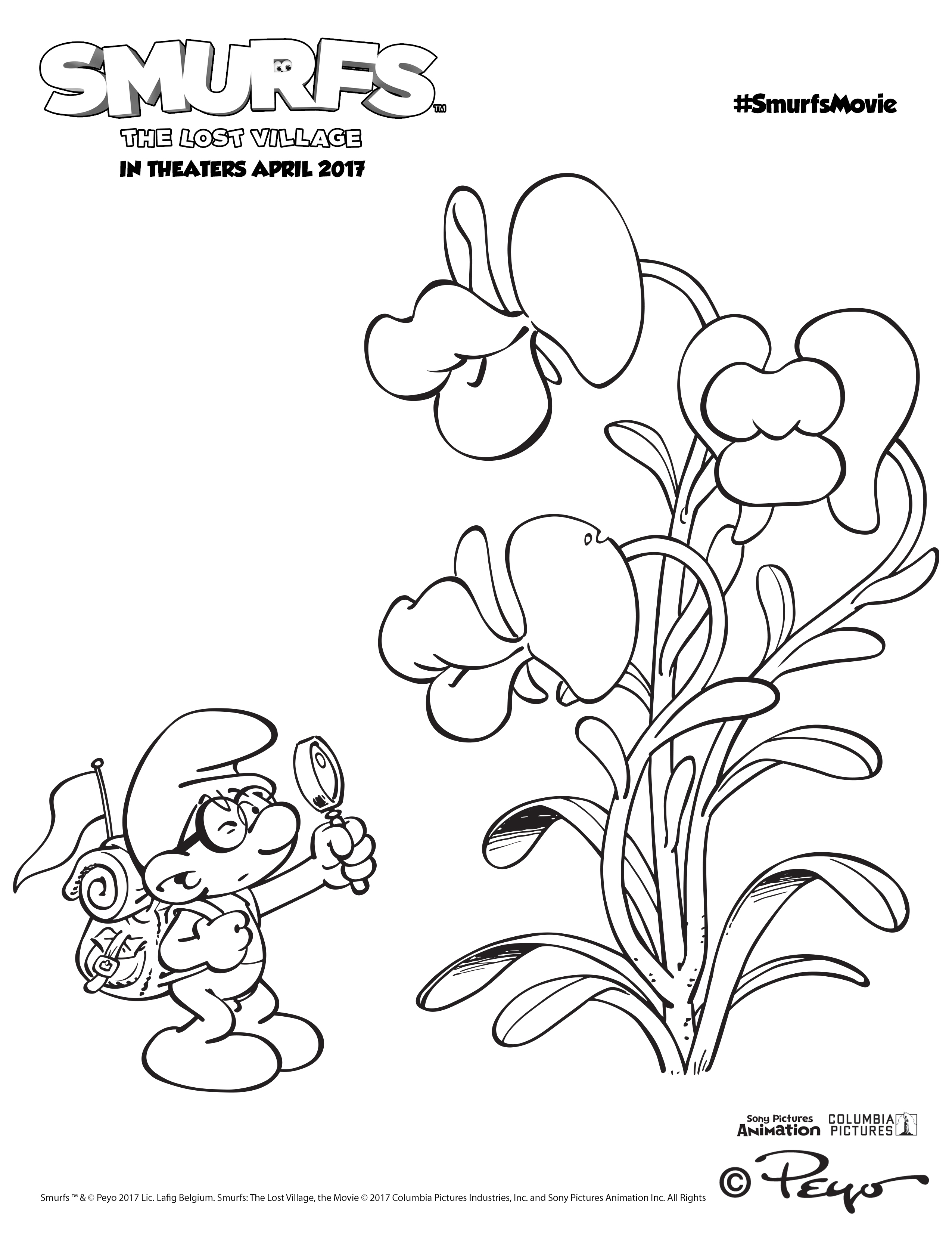 The Smurfs: The Lost Village Coloring & Activity Sheets