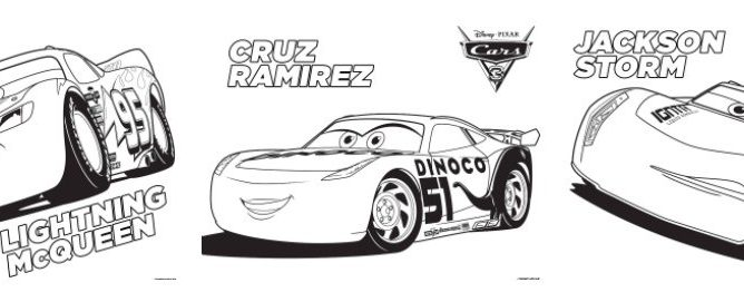 NEW CARS 3 Coloring Pages
