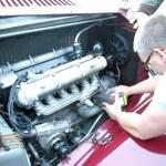 Spektralanalyse am Motor eines Alfa Romeo 8C