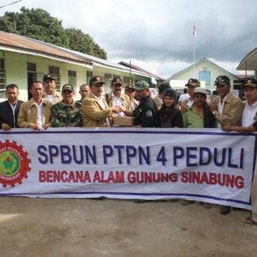 SPBUN PTPN IV (Persero) Medan Peduli Bencana gunung Sinabung