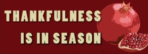 Thankfulness is in season
