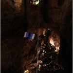 David Cusanelli - salto con paracadute in Grotta Gigante