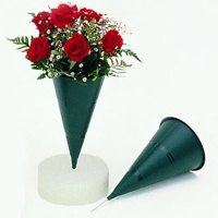 """9"""" Cone Cemetery Vases - Floral Supply Syndicate - Floral ..."""