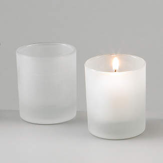 Frosted Votive Candle Holder