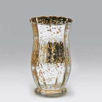 "Glass 7.75x4"" Silver/gold Vase - Floral Supply Syndicate ..."