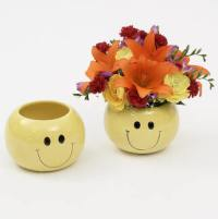 "6"" Smiley Face Vase - Floral Supply Syndicate - Floral ..."