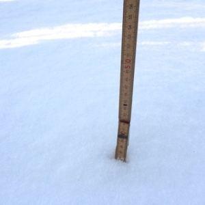 36 centimeter – min gisning är att vintern peakat och att vi nu närmar oss våren.