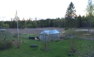Till slut kunde jag kalka bortre delen av fältet och äntligen var det dags för vårbruk.