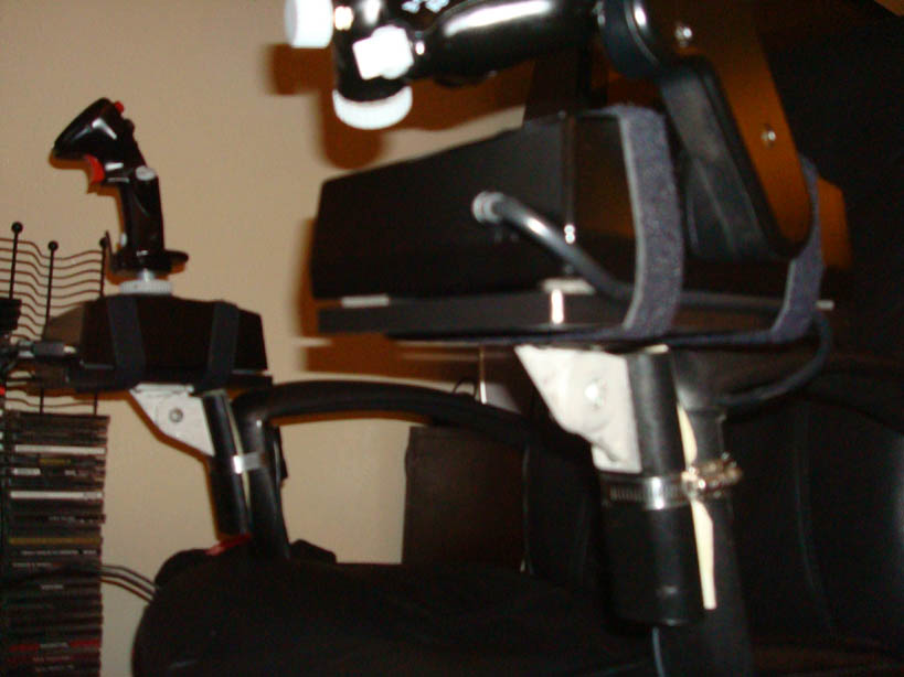 office chair joystick mount stool mounting hotas on simhq forums