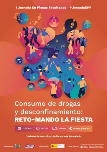 """El Projecte EPF de FSC organitza la I Jornada """"Consum de drogues i desconfinamiento: REPTE - REPRENENT LA FESTA"""""""