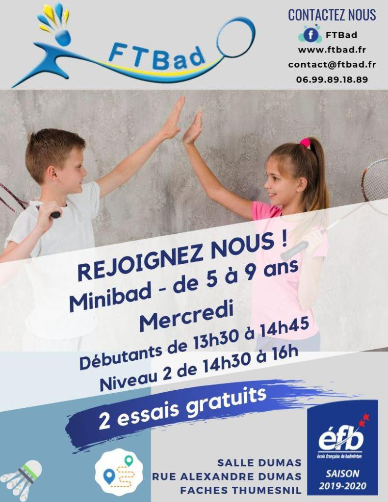 Mini-bad – à partir de 5 ans
